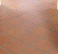 Terracotta tile cleaning and sealing (before)