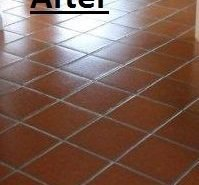 Terracotta tile cleaning and sealing (After)