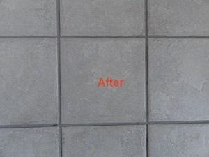 clean tiles and grout lines