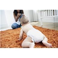 baby on clean carpet/rug